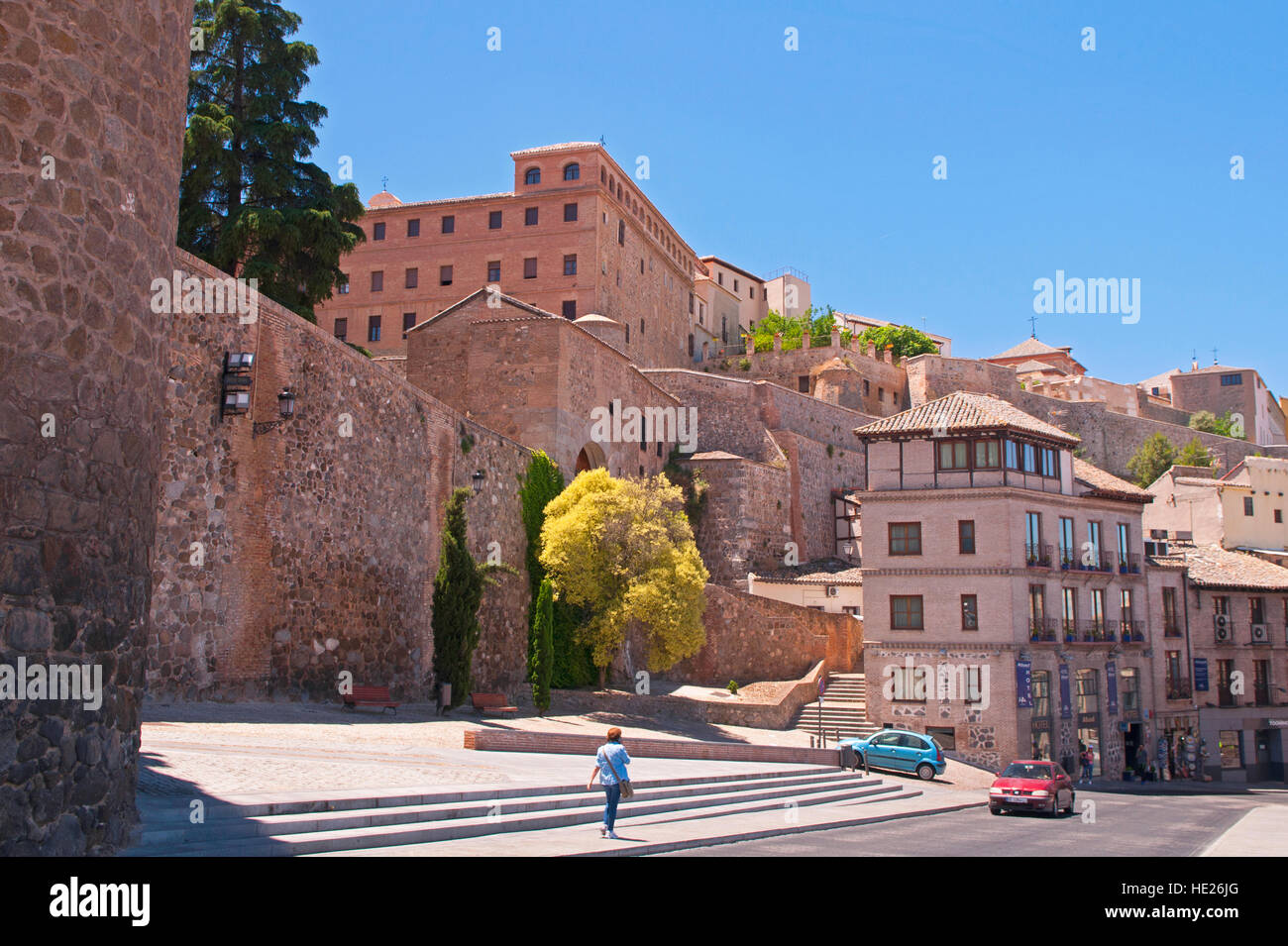 Outside the walled city of Toledo Spain Stock Photo