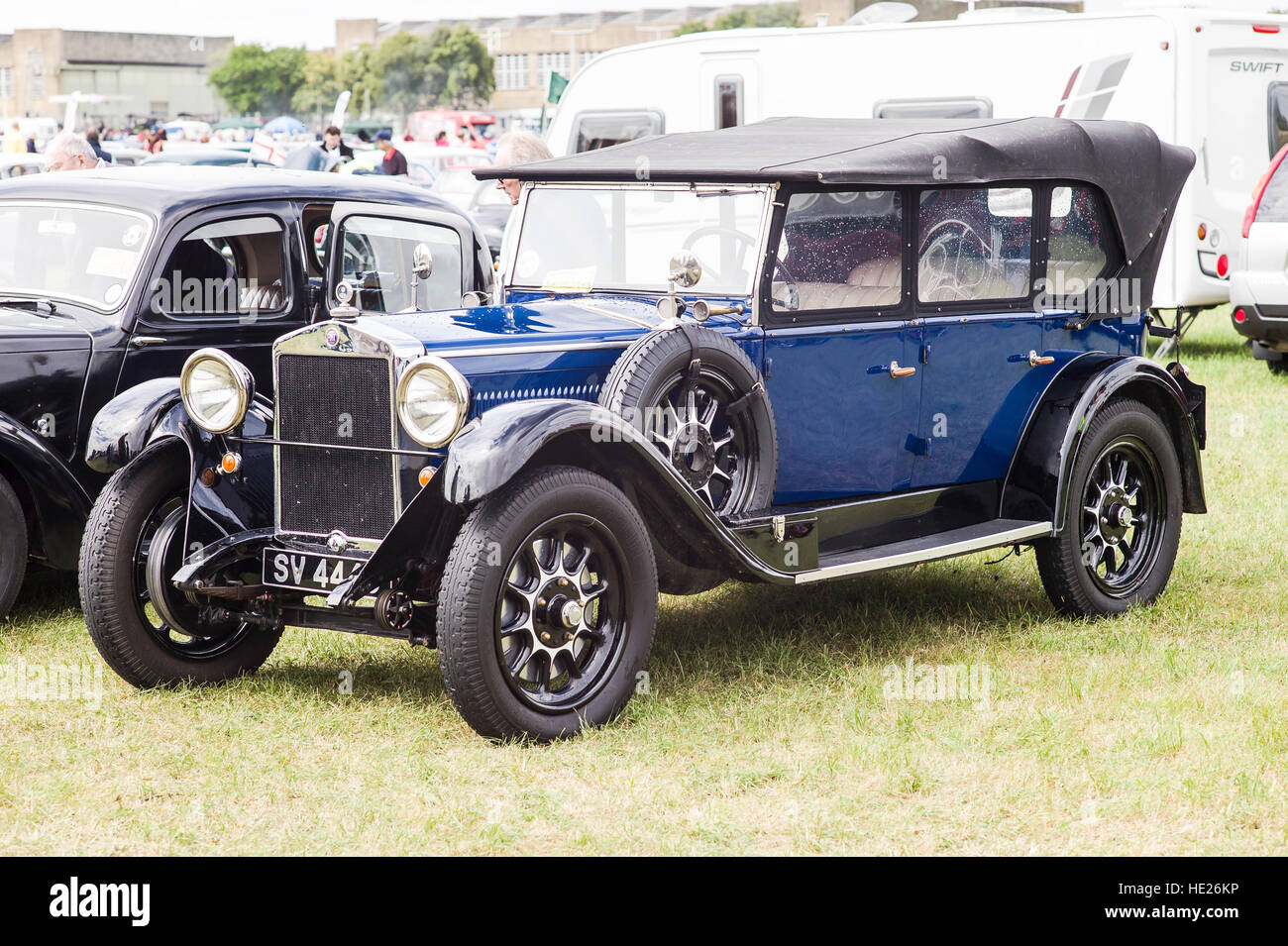 Possibly Fiat 507 soft-top car from the 1920s - Stock Image