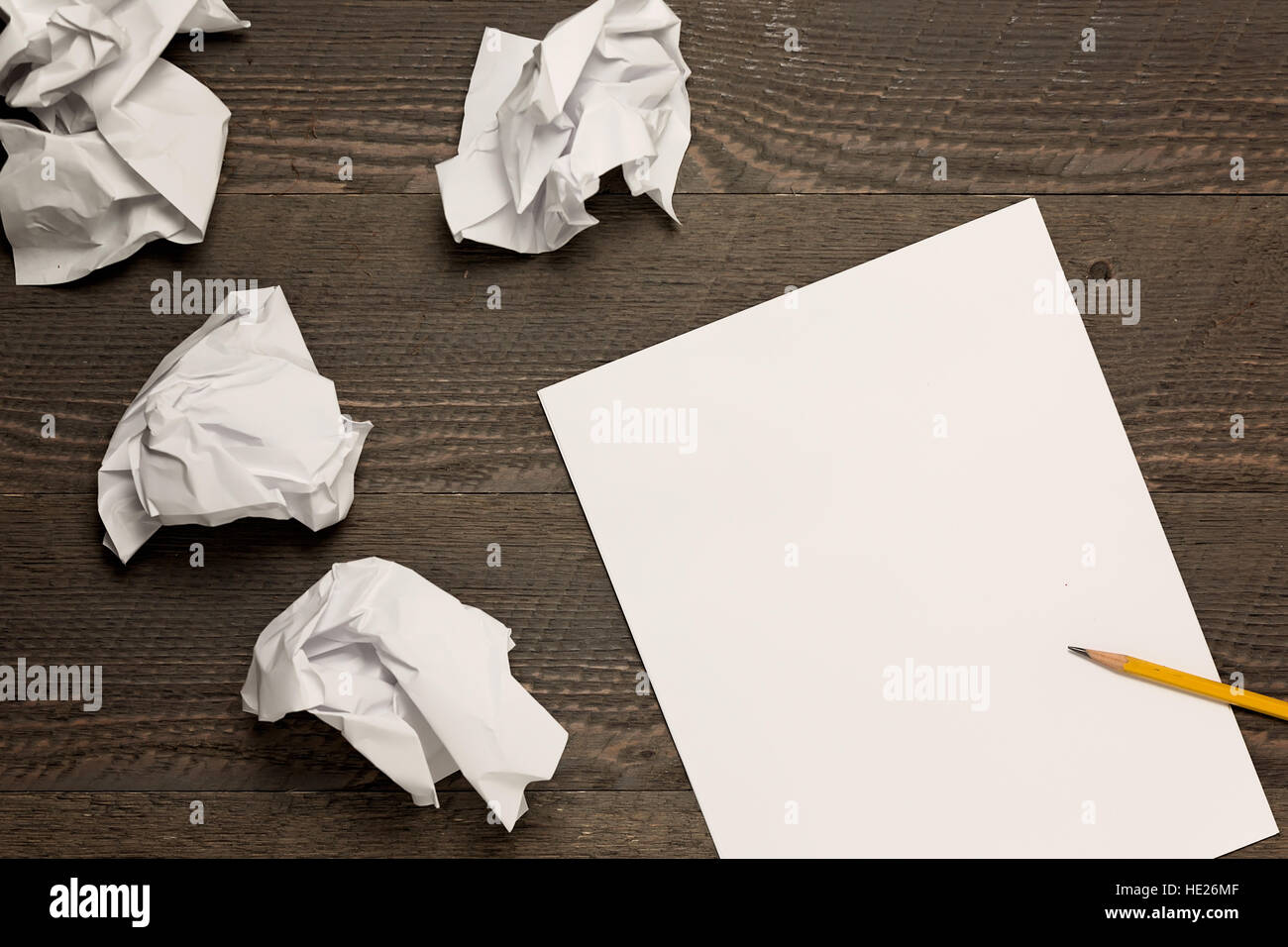 Writer's block - Stock Image