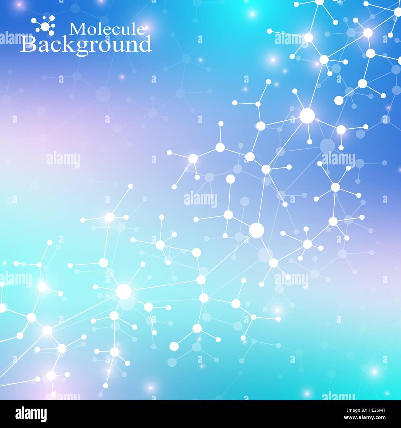 Dna Model Wallpaper: Modern Structure Molecule DNA. Atom. Molecule And