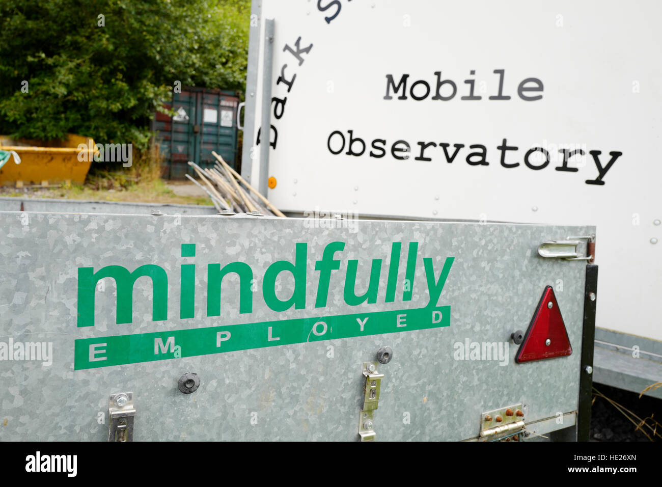 Signs indicative of work and activities designed to help people recovering from mental illness - Stock Image