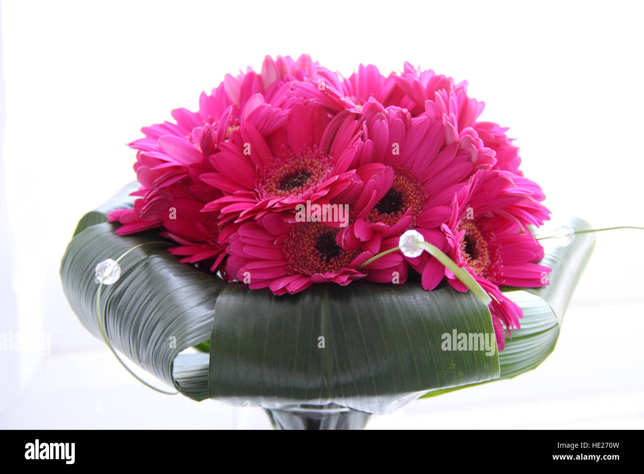 Wedding bouquet of gerberas, or transvaal daisies. - Stock Image
