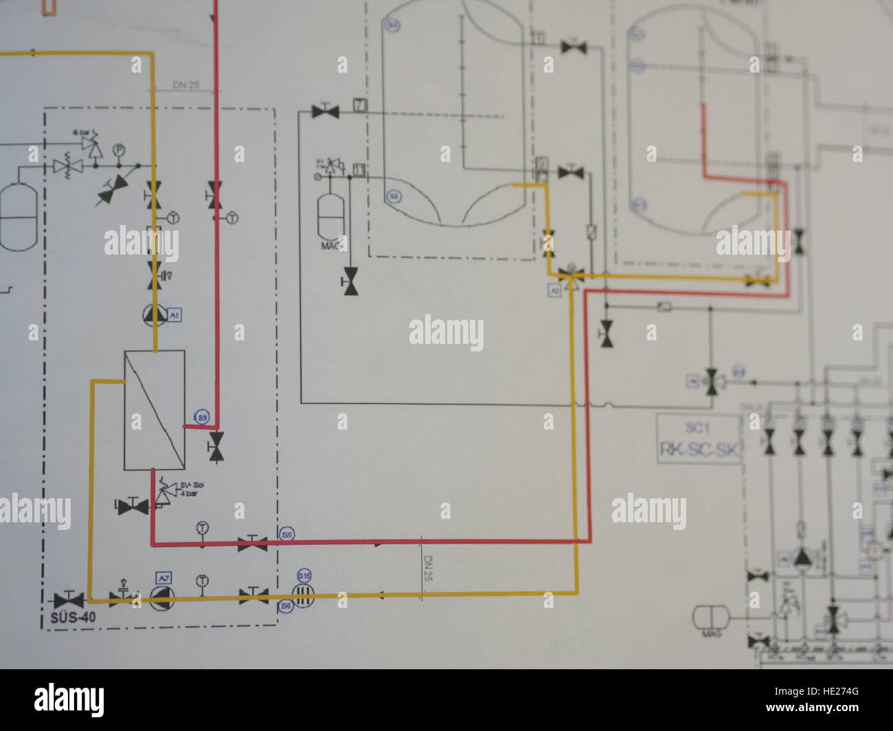 Wiring Diagram Stock Photos Images Alamy Of Electricity Image