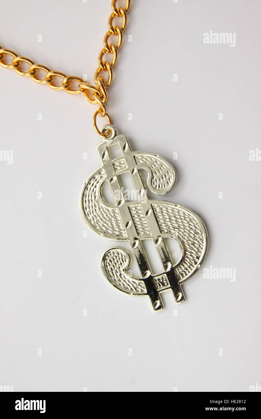 Dollar medallion, from the 70's disco era - Stock Image