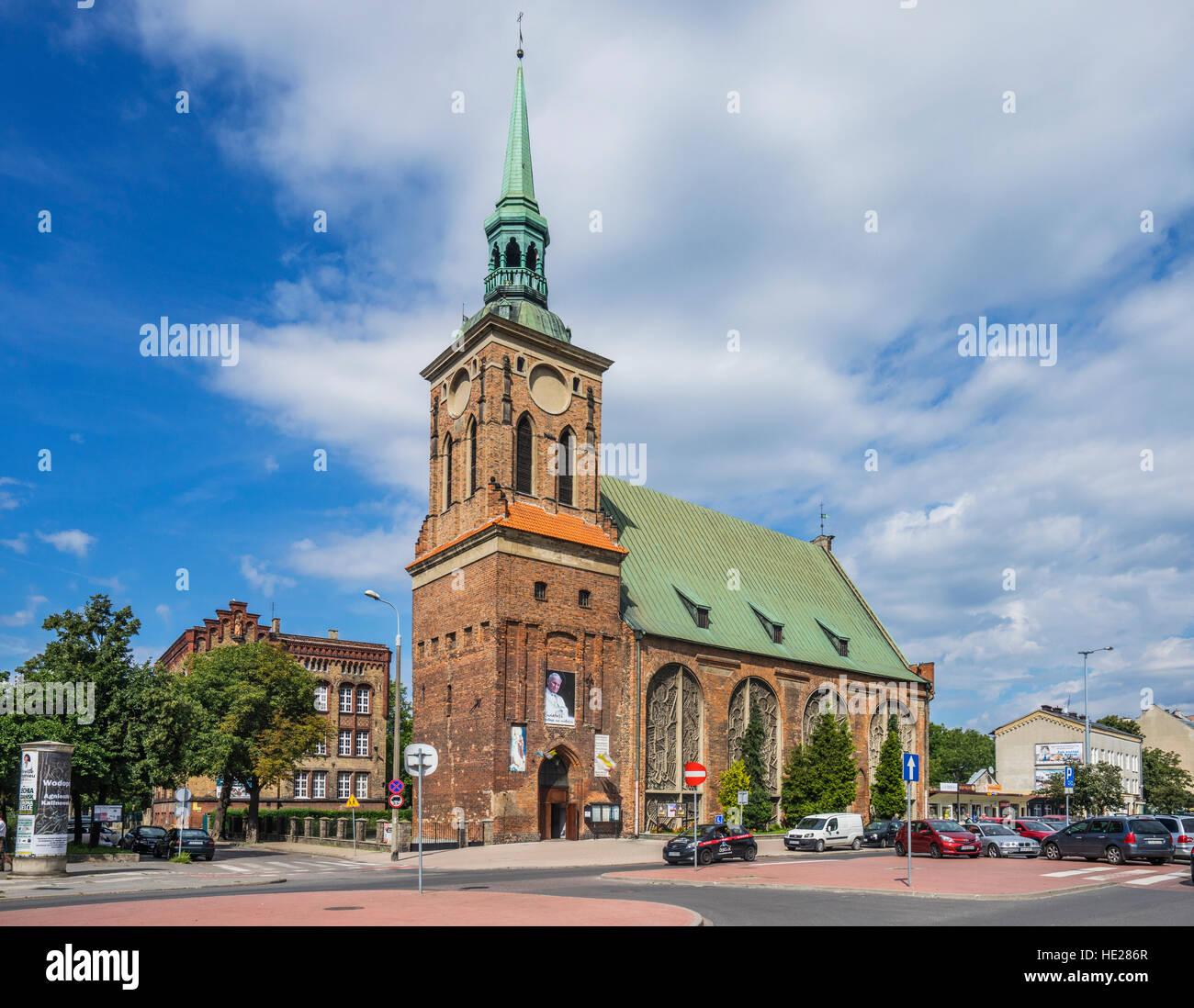 Poland, Pomerania, Gdansk (Danzig), St. Barbara Church, Langgarten - Stock Image