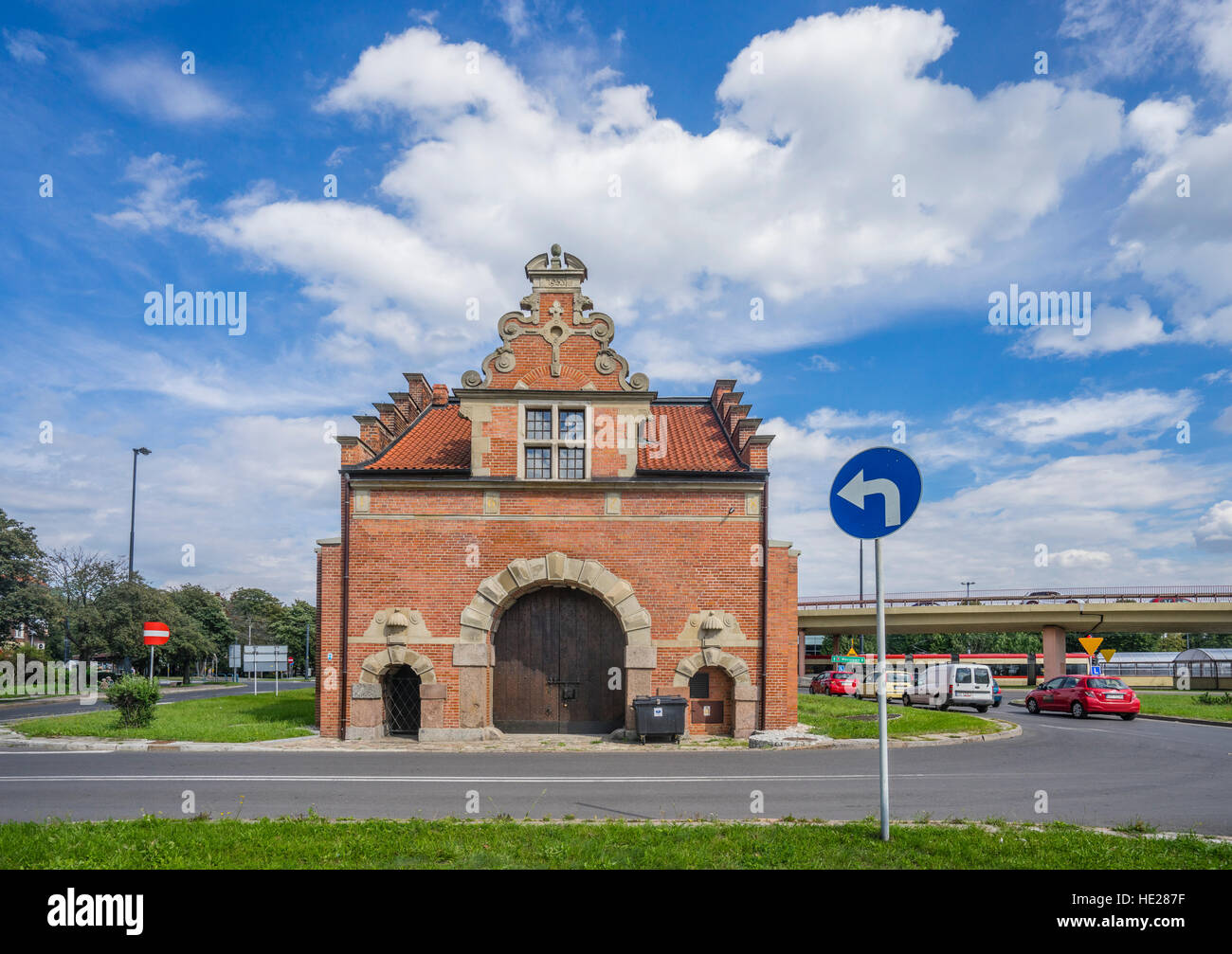 Poland, Pomerania, Gdansk (Danzig), Langgarten, Langgarter Tor - Stock Image