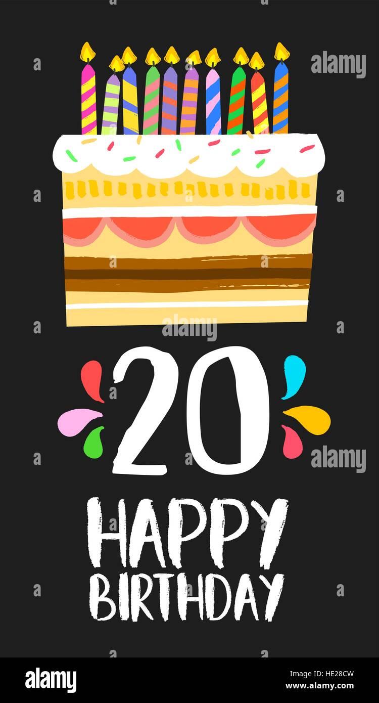 20th Birthday Cake Stock Photos 20th Birthday Cake Stock Images