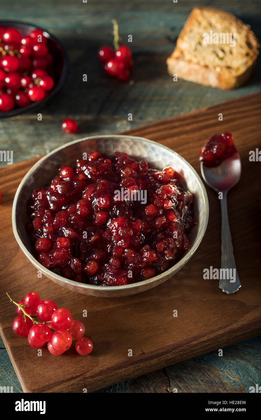 Homemade Organic Red Currant Jam Ready to Eat - Stock Image