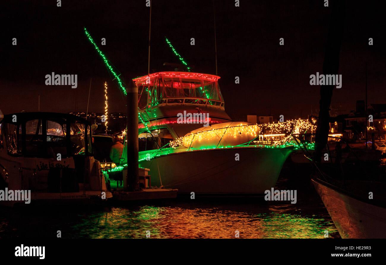 Christmas Boat Parade Newport Beach.Newport Beach Christmas Boat Parade Stock Photos Newport
