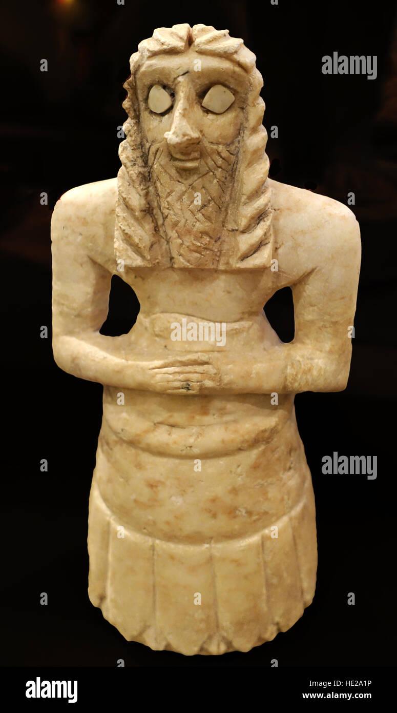 6029. Worshiper, Khafajah Sin Temple, Mesopotamia, c. 2600-2500 BC - Stock Image