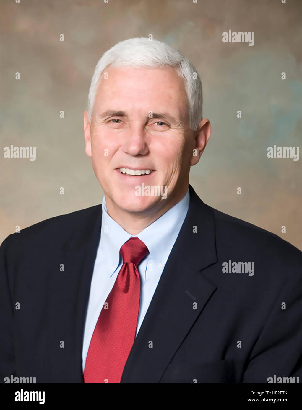 MIKE PENCE US Vice President-elect in 2015 - Stock Image