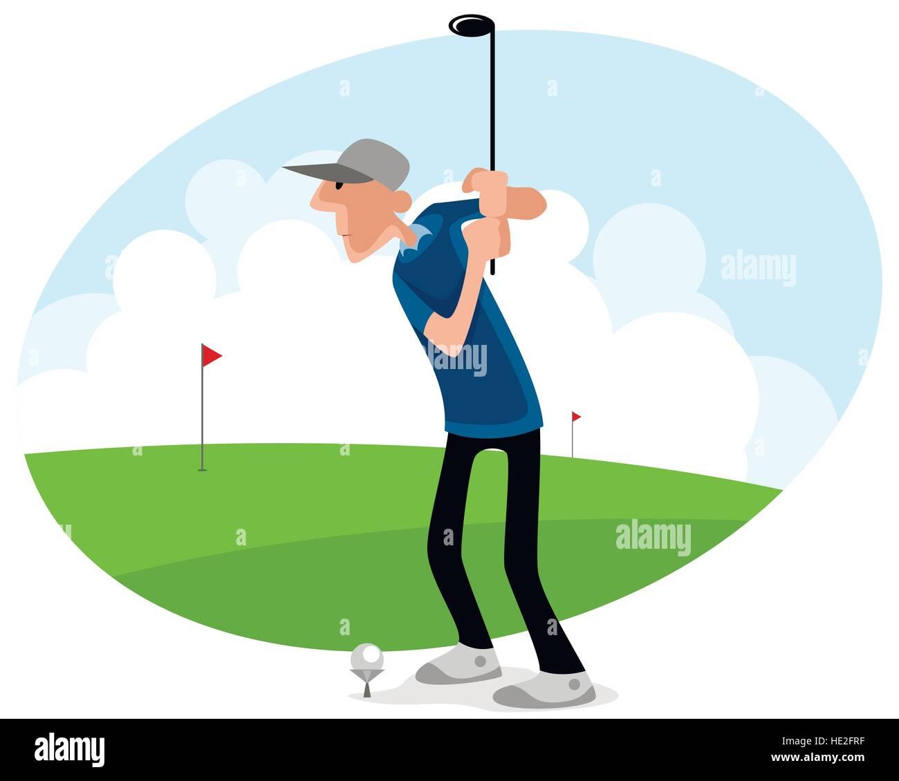 Golf Cartoon Stock Photos & Golf Cartoon Stock Images - Alamy on cartoon easy draw golf club, easy drawings to draw golf club, cartoon golf club bag, cartoon swinging golf club,