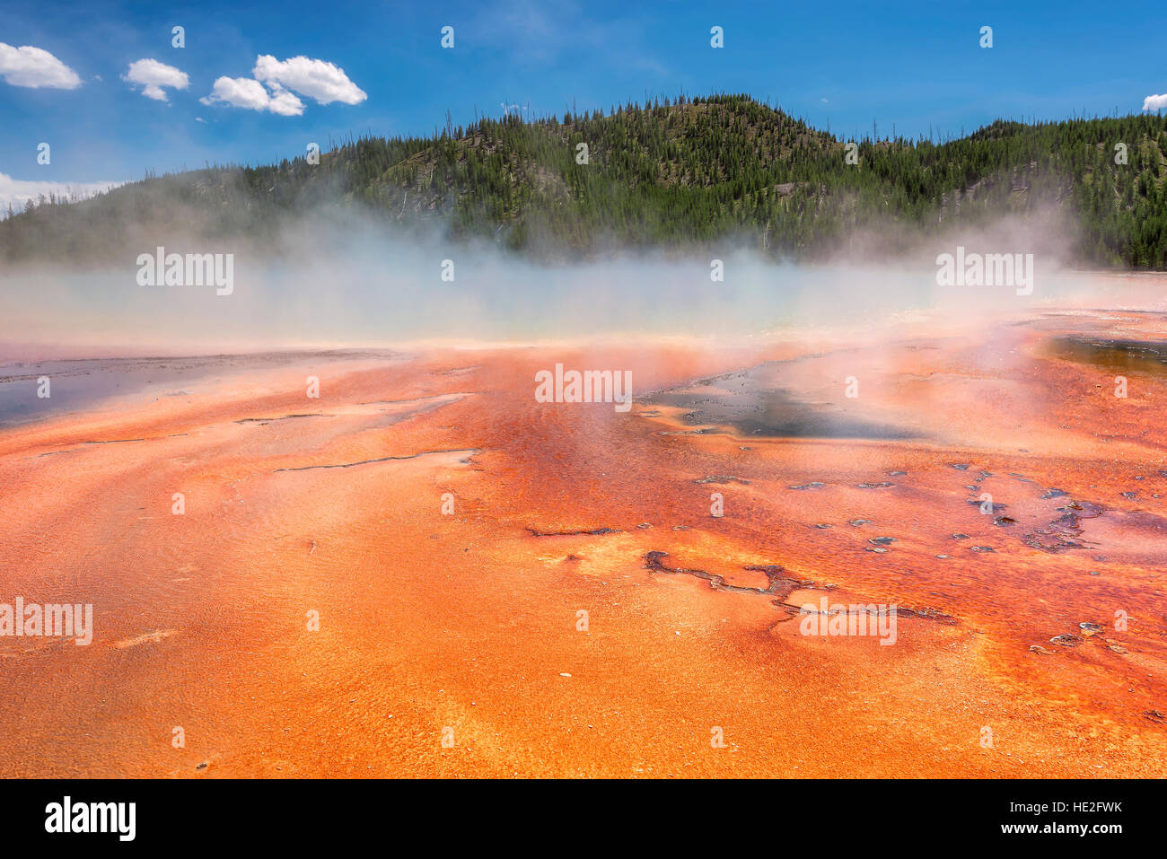 Grand Prismatic Spring in Yellowstone National Park, USA - Stock Image