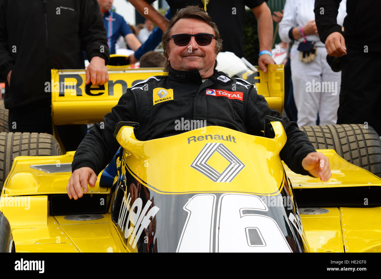 René Arnoux is a French former racing driver who competed in 12 Formula One seasons (1978 to 1989). - Stock Image