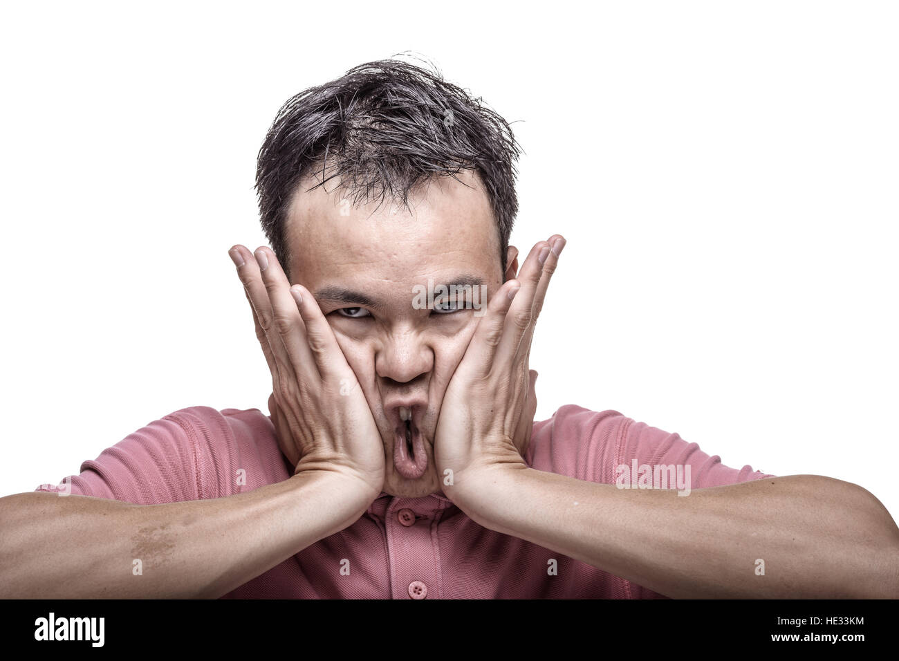 Slapping mature asian
