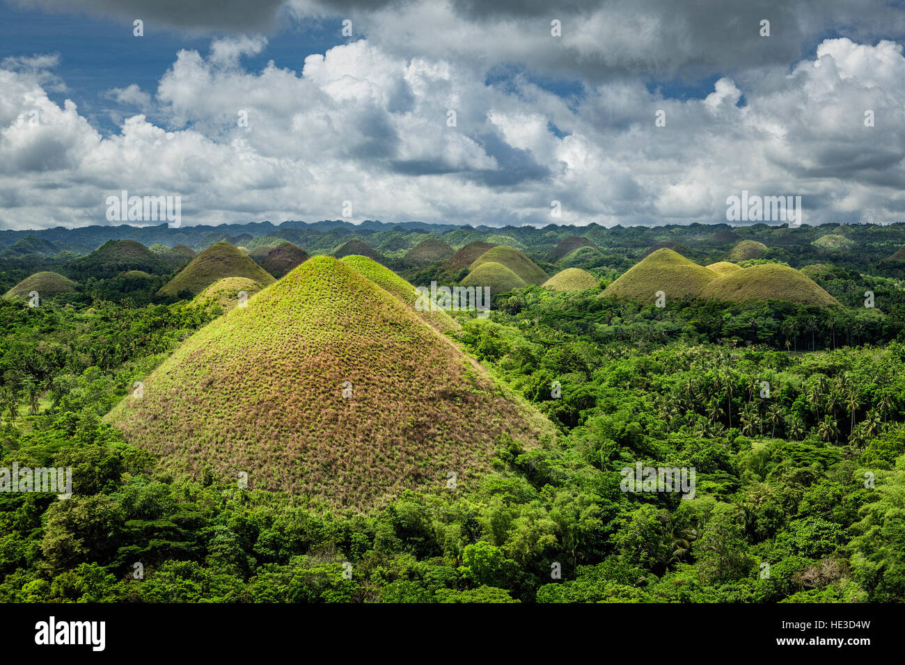 Chocolate Hills Geological Monument on Bohol Island, Philippines. - Stock Image