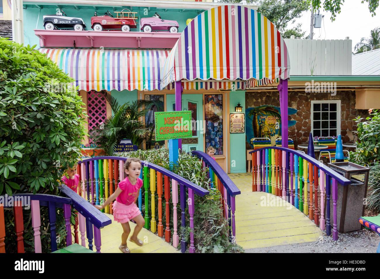 Florida Captiva Island The Bubble Room restaurant exterior - Stock Image