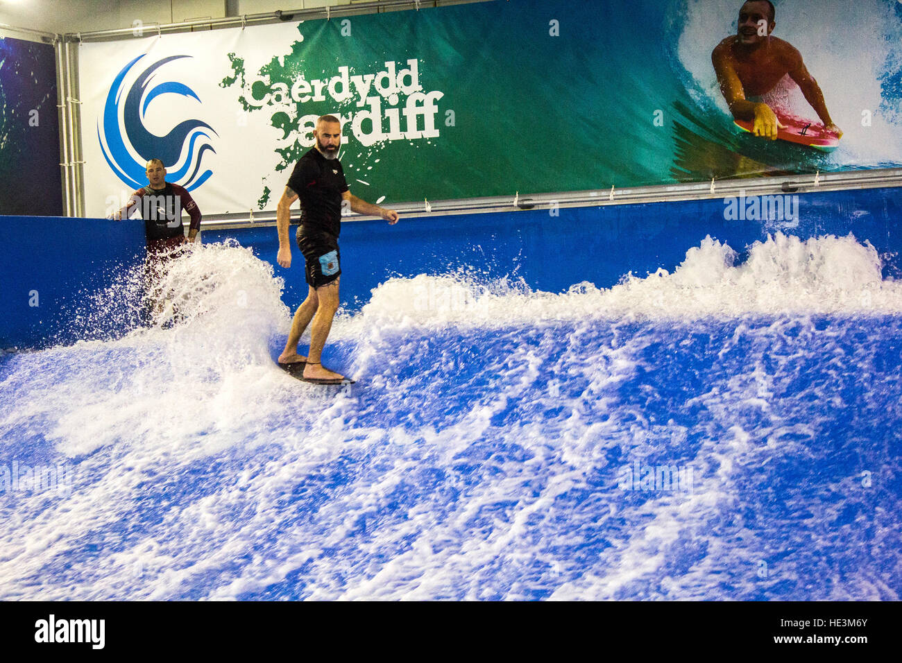 Indoor Surfing At Cardiff Bay Stock Photo 129159491 Alamy