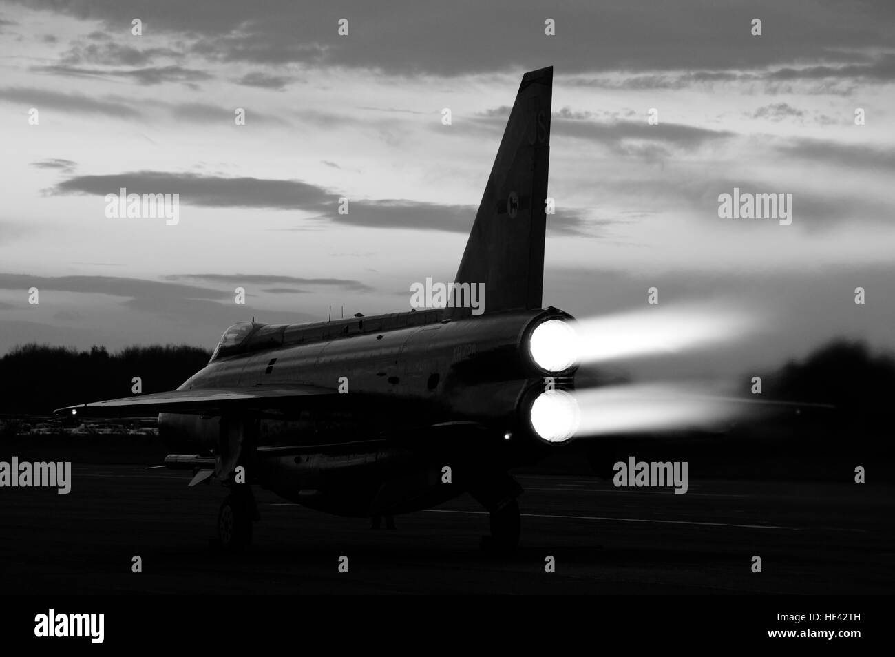 English Electric Lightning F6 Stock Photo