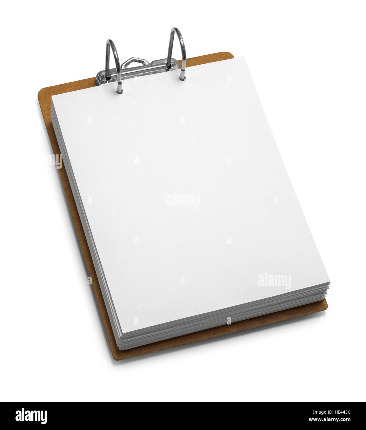Large Office Clipboard with Binder Isolated on White Background. - Stock Image