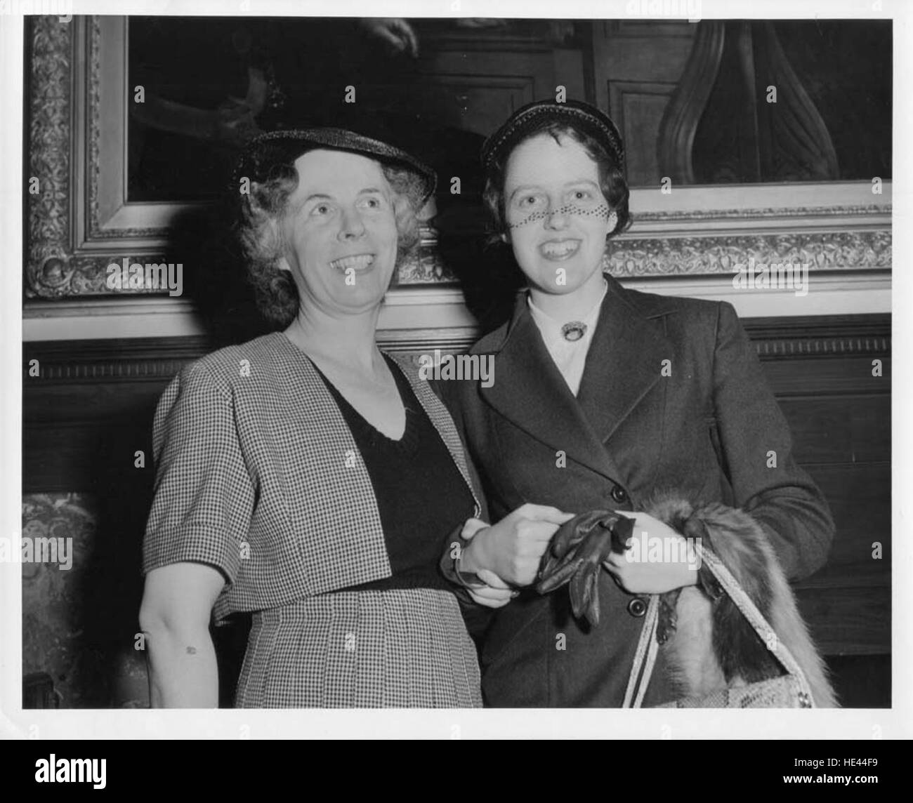 Photograph of G.E. Marie Wilson and Janet Scott - Stock Image