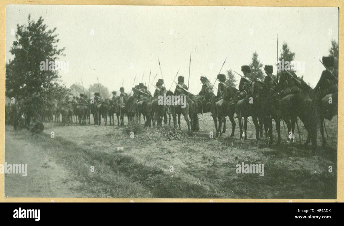 Belgische cavalerie, augustus 1914  Belgian cavalry, August 1914 - Stock Image