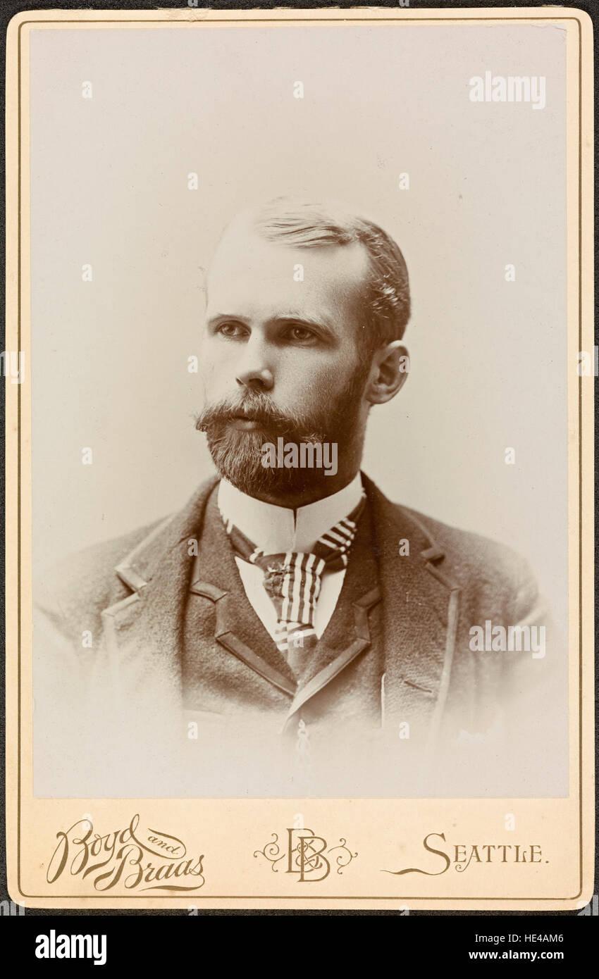 Portrett av fotograf Anders Beer Wilse (1865-1949), 1892  Portrait Stock Photo