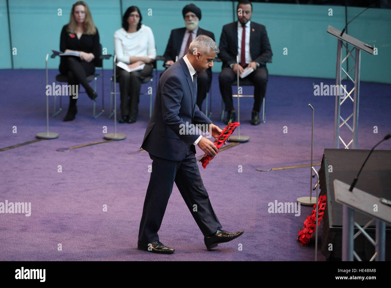 The Mayor of London, Sadiq Khan, Chairman of the London Assembly, Tony Arbour, London Assembly Members, Greater - Stock Image