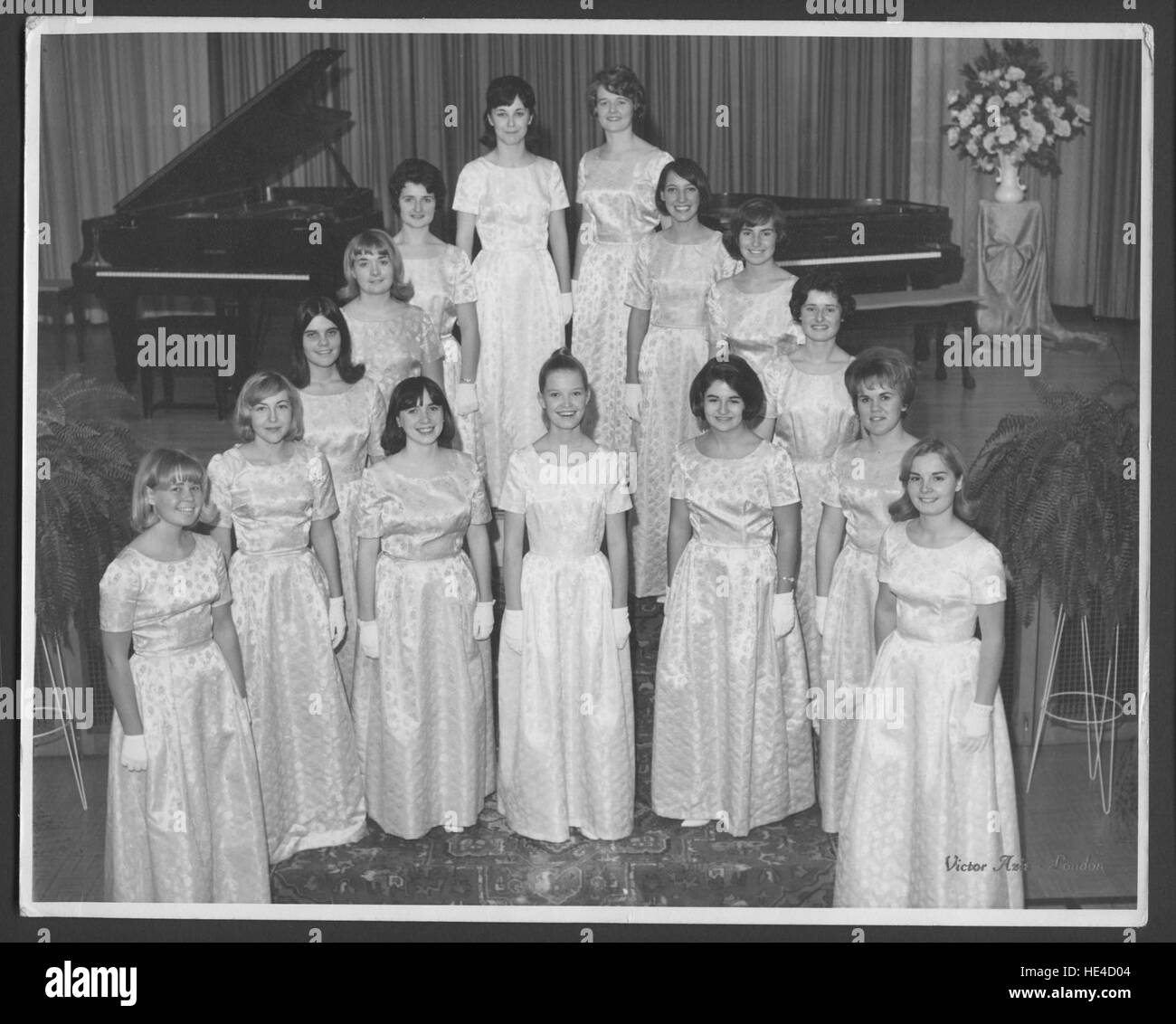 St Cecilia Singers in formal attire - singers were part of St. Joseph's School of Music in London, Ont. Photo - Stock Image
