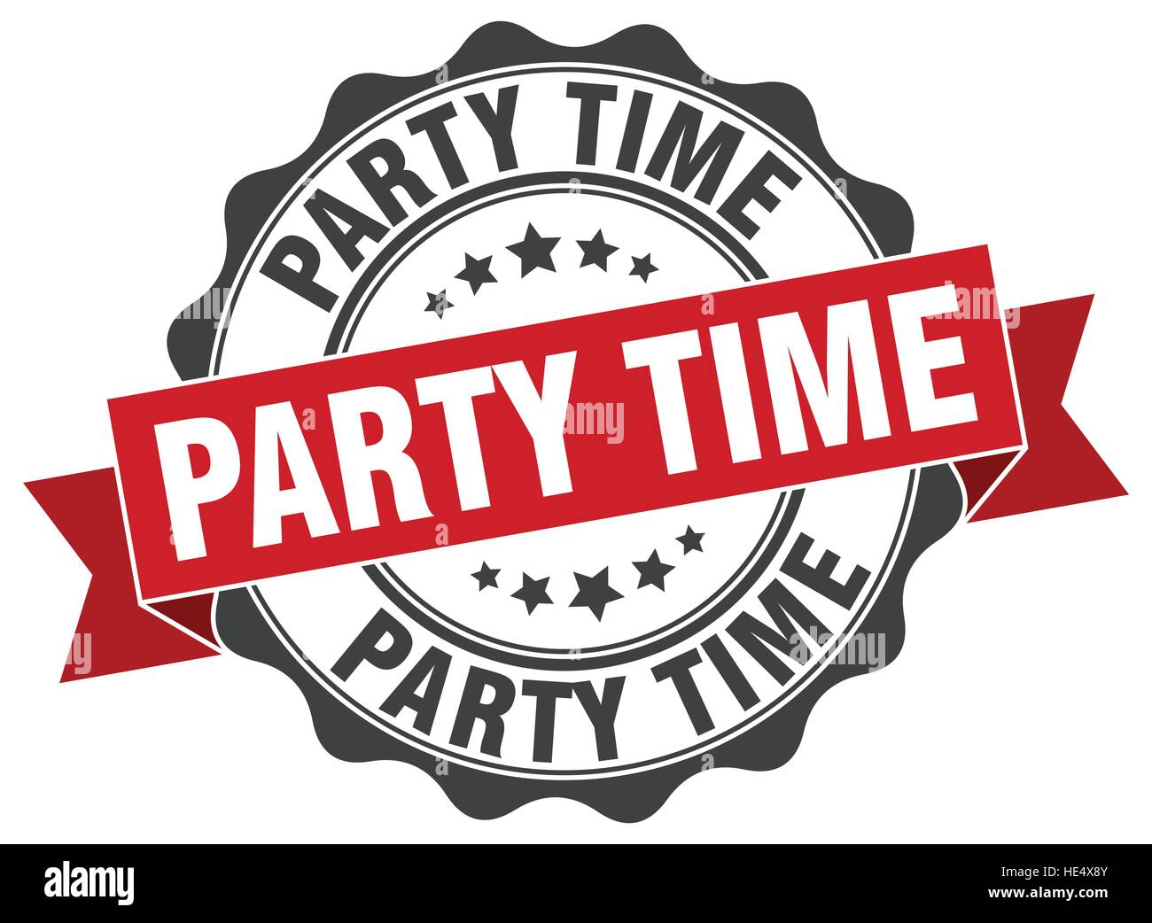 party time stamp sign seal cut out stock images pictures alamy