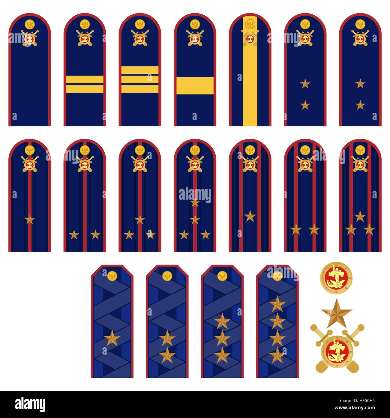 Insignia Police Officers In Russia The Illustration On A
