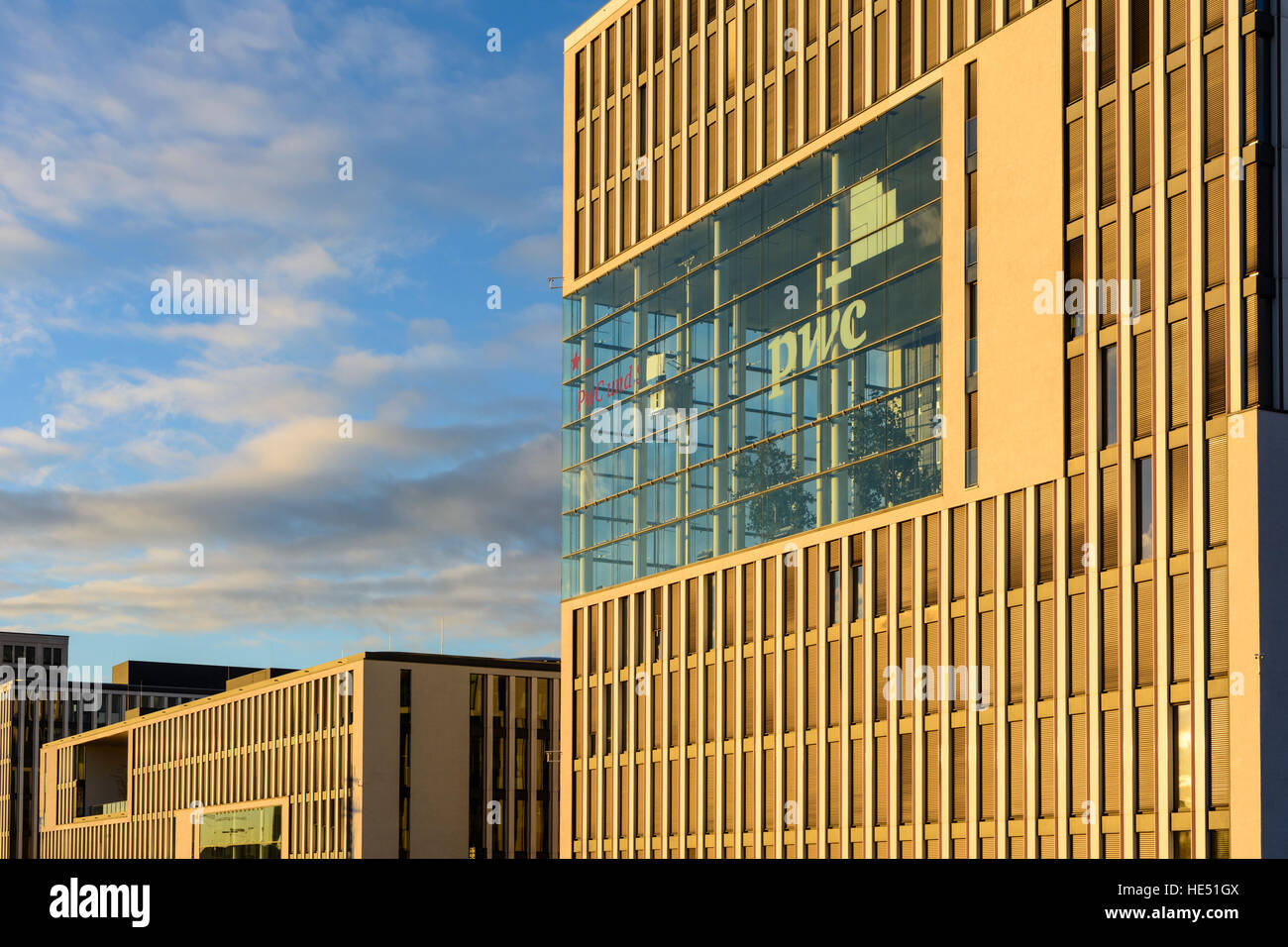 München, Munich: PricewaterhouseCoopers (PwC) office building, Oberbayern, Upper Bavaria, Bayern, Bavaria, - Stock Image