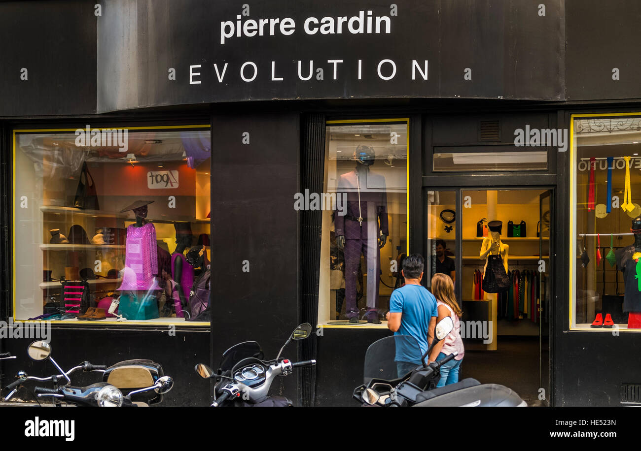 pierre cardin store - Stock Image