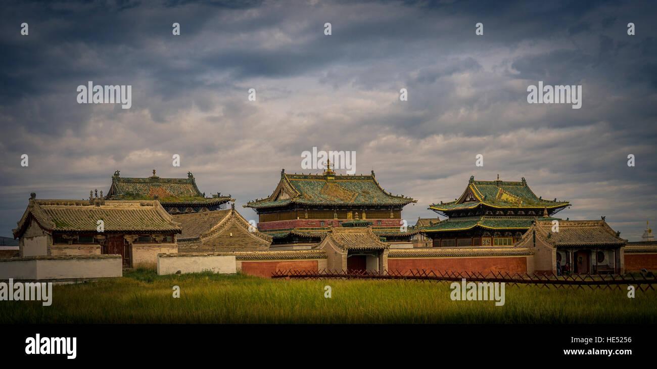 Erdene Zuu monastery, Karakorum, Kharkhorin, Övörkhangai Province, Mongolia - Stock Image
