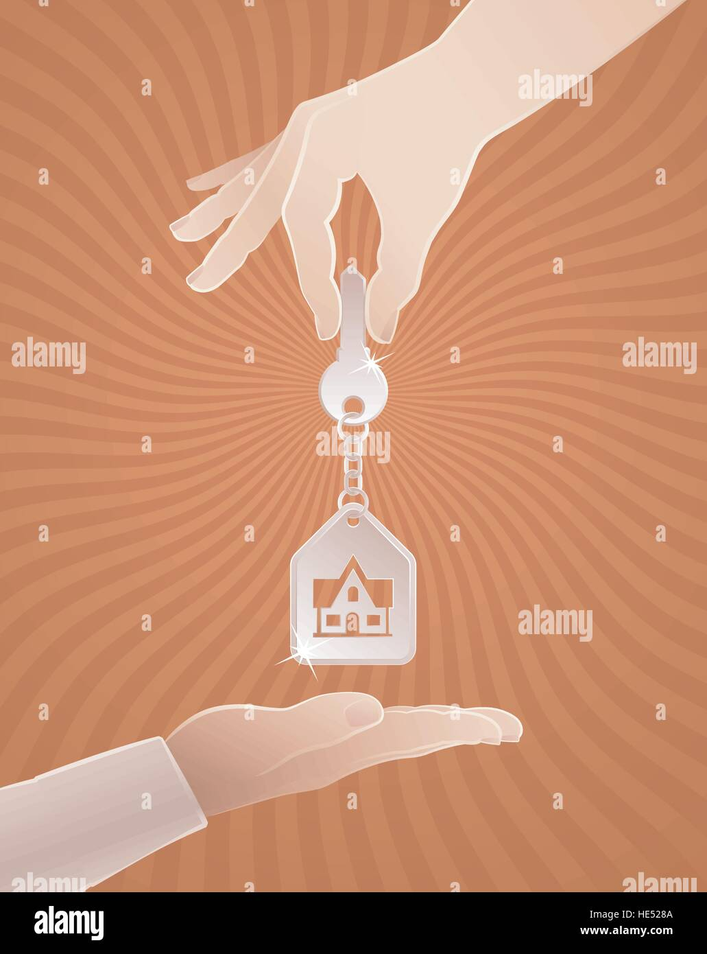 Home Sweet Home Key - Stock Vector