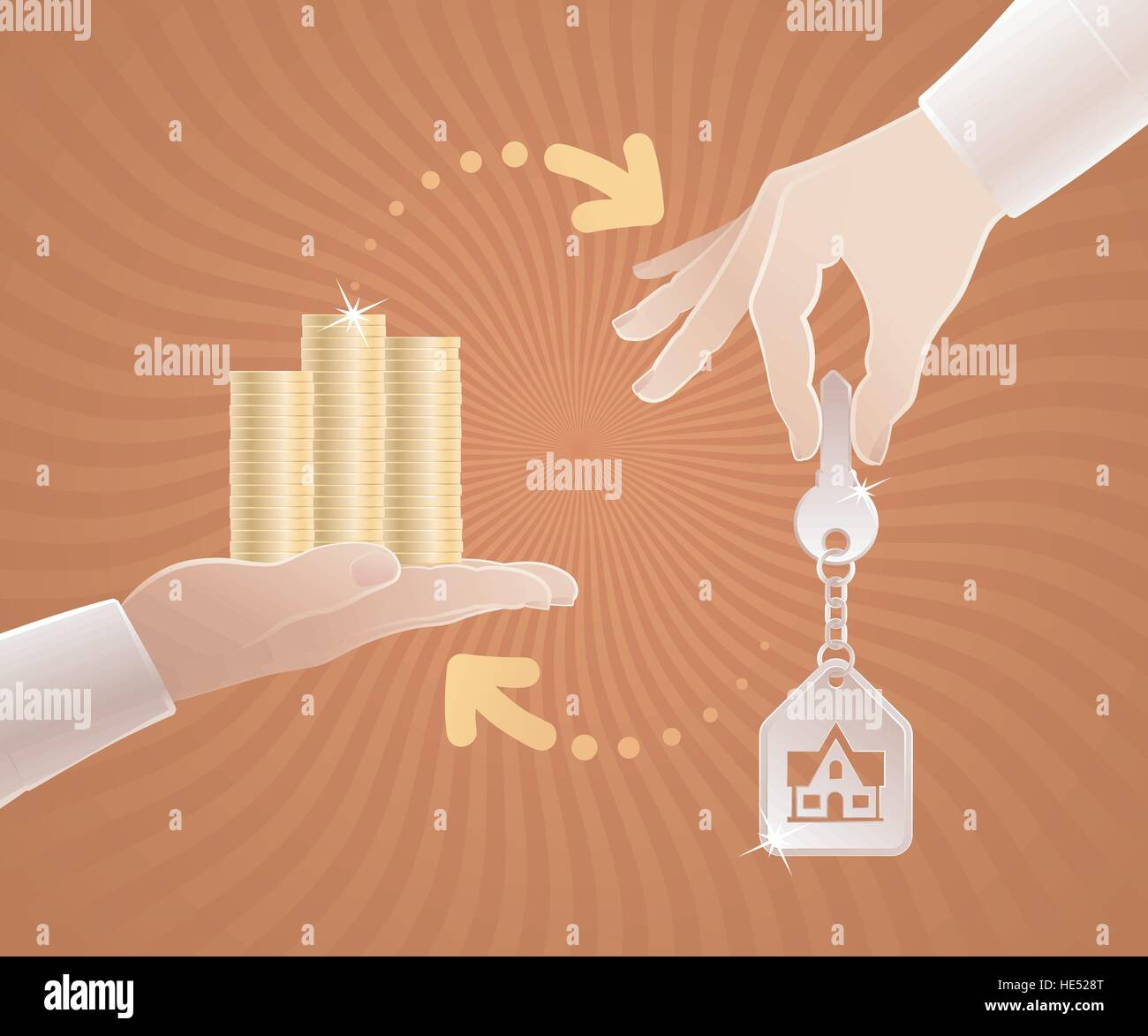 Real Estate Market - Stock Vector