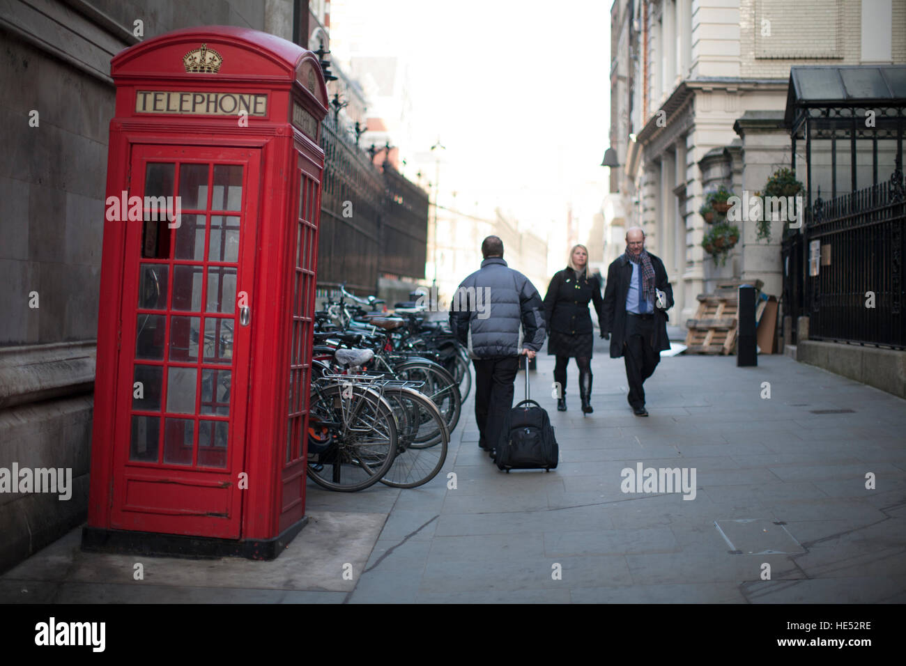 Old style Telephone box Central London - Stock Image