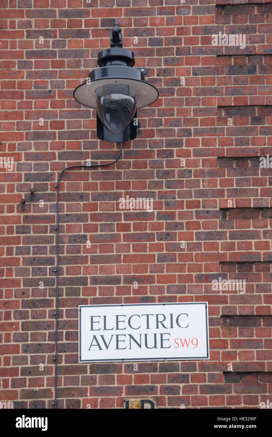Streetlight Electric Avenue, Brixton, London, UK - Stock Image