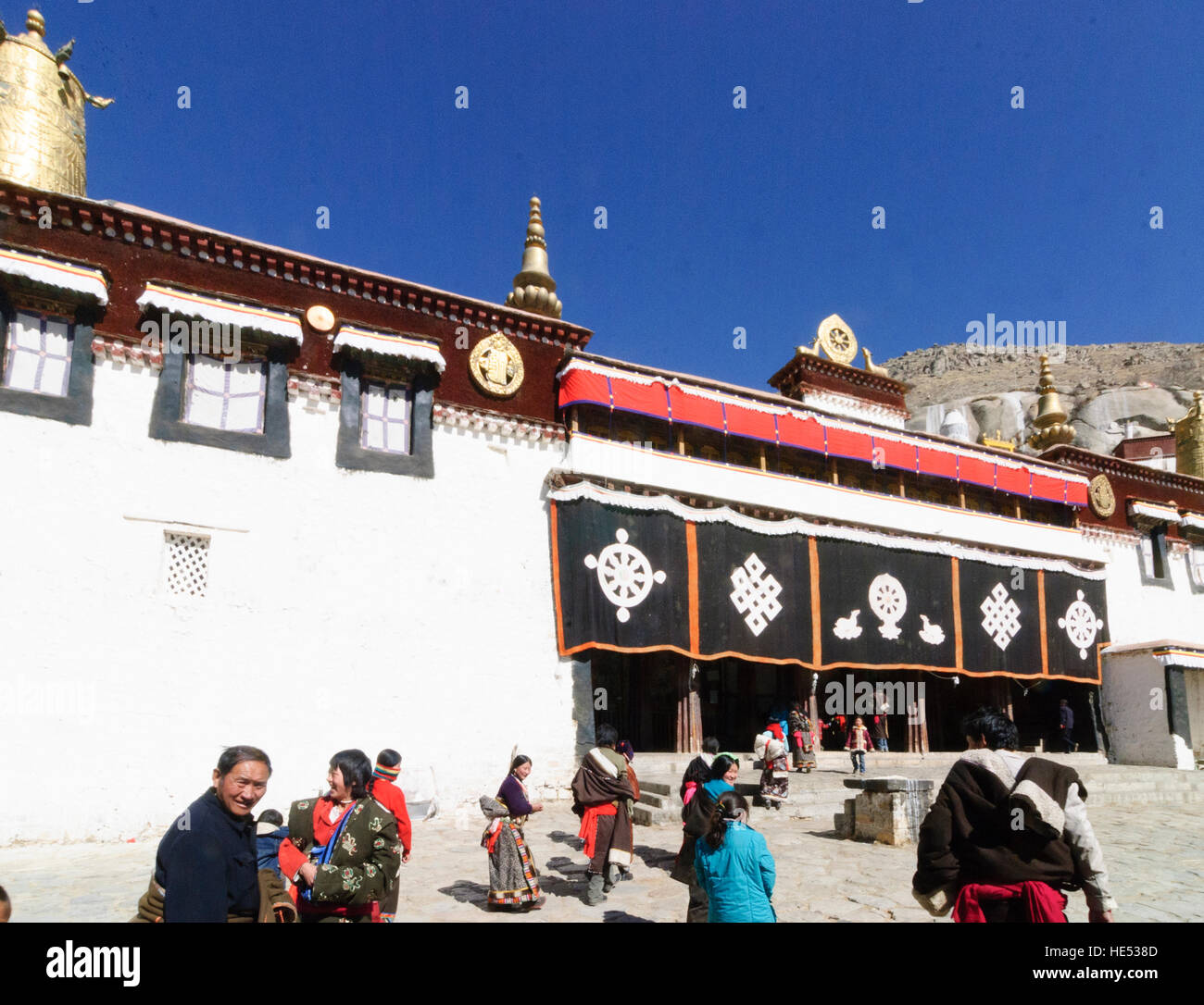 Lhasa: Monastery Sera; Main prayer hall, Tibet, China - Stock Image