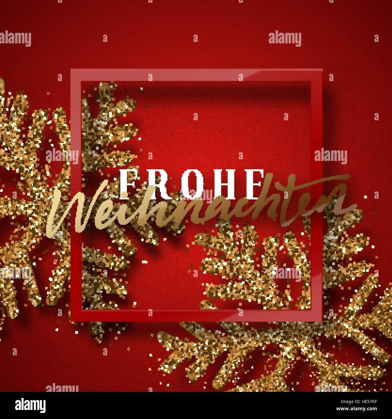 Merry Christmas German.Merry Christmas German Inscription Frohe Weihnachten Stock