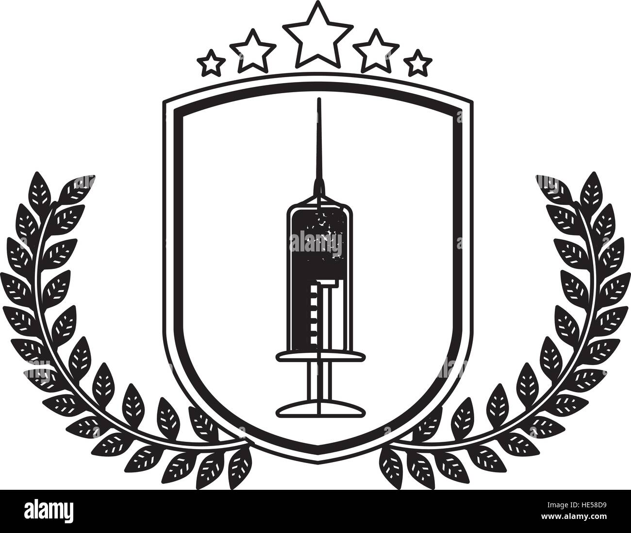 Isolated injection design - Stock Vector