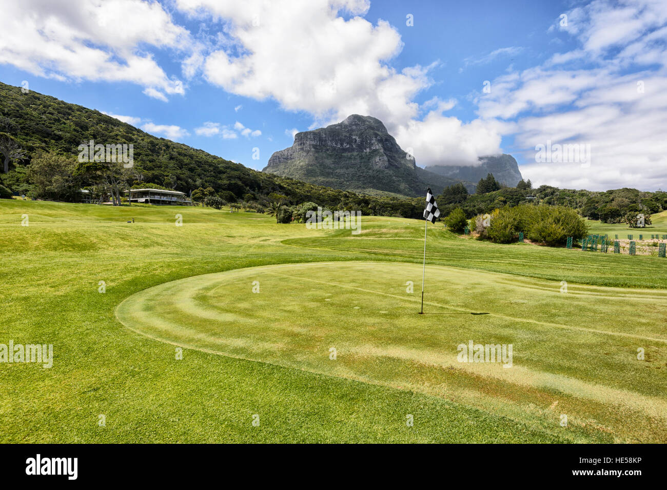 Golf course, Lord Howe Island, New South Wales, NSW, Australia - Stock Image