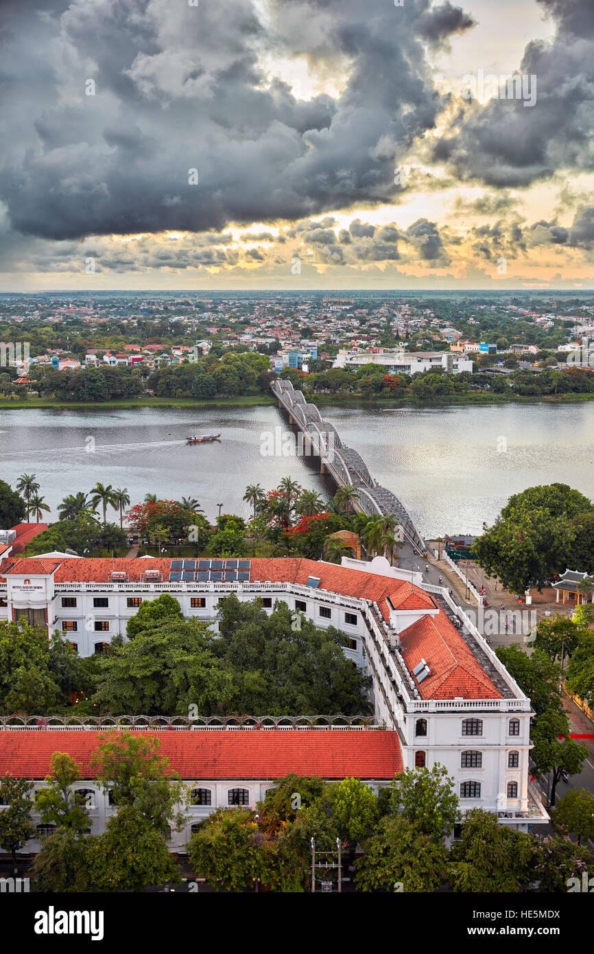 Elevated city view. Hue, Vietnam. Stock Photo