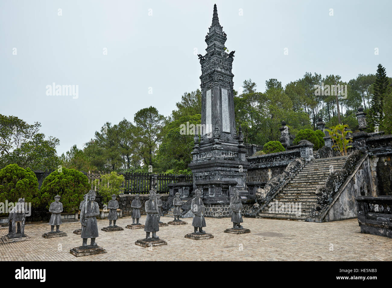 Salutation Court at the Tomb of Khai Dinh (Ung Tomb). Hue, Vietnam. - Stock Image