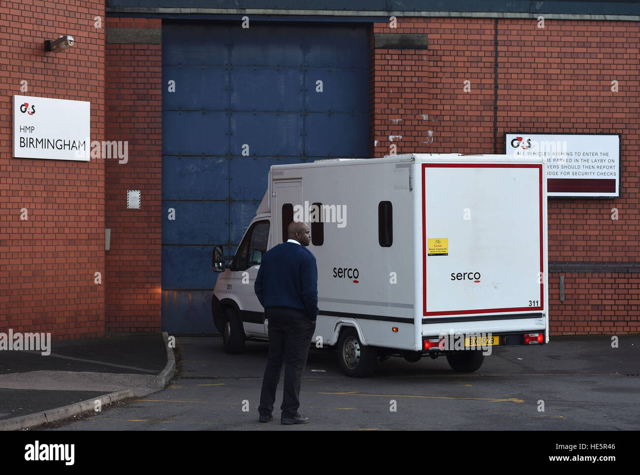 db6814ccc4 A custody vans arrives at HMP Birmingham after a disturbance at the prison  yesterday. -