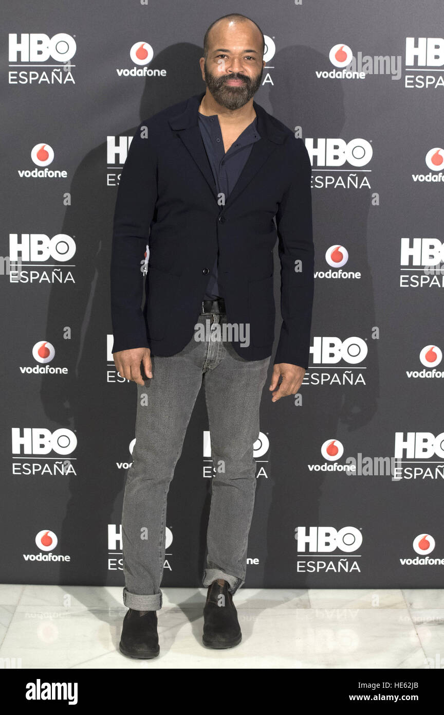 Madrid, Spain. 15th Dec, 2016. Photocall with Jeffrey Wright at HBO Espana presentation at Urso Hotel in Madrid. Stock Photo
