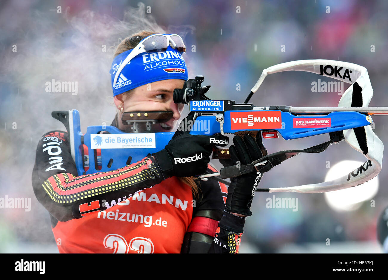 Nove Mesto Na Morave, Czech Republic. 18th Dec, 2016. Vanessa Hinz of Germany competes in the World Biathlon Cup - Stock Image
