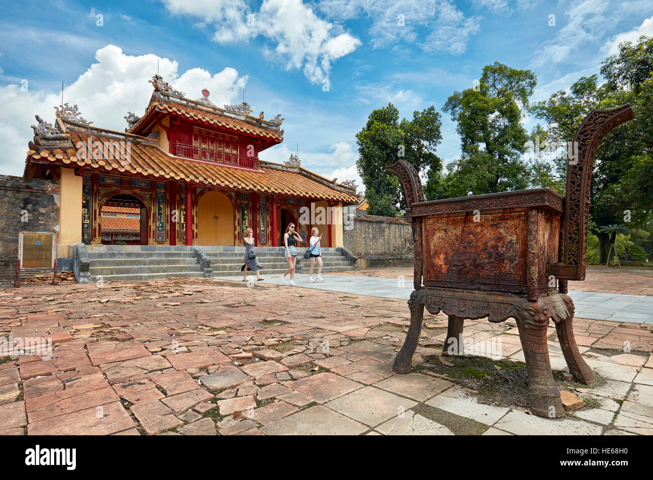 Hien Duc Gate at the Tomb of Minh Mang (Hieu Tomb). Hue, Vietnam. - Stock Image
