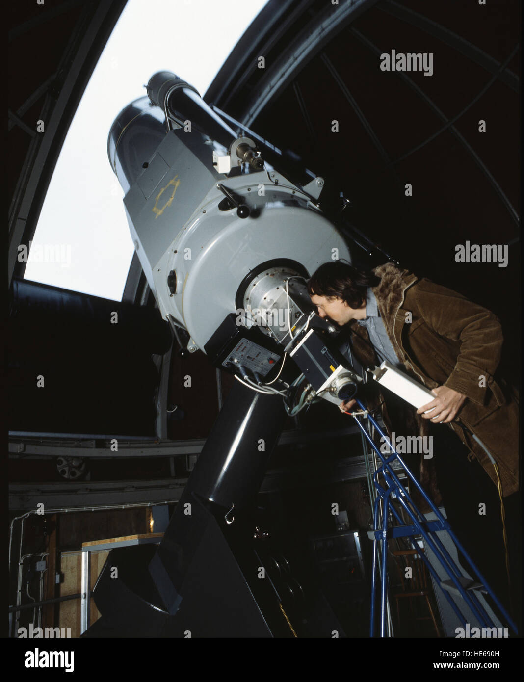 TELESCOPE in a observatory 2000 - Stock Image