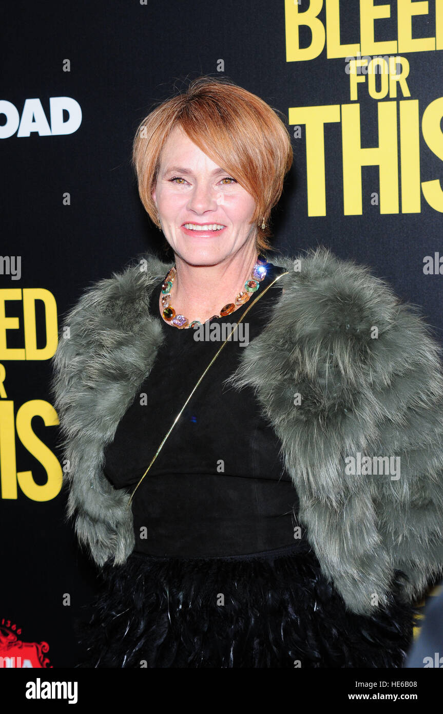 Shawn Colvin attending the New York premiere of 'Bleed For This,' hosted by Open Road with Men's Fitness, - Stock Image